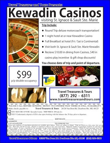 Kewadin Casinos - Travel Treasures & Tours