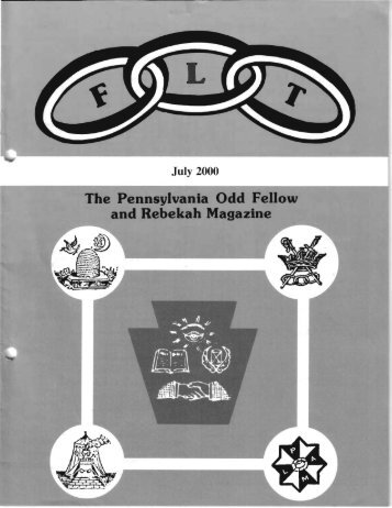 July - Grand Lodge of Pennsylvania, Independent Order of Odd ...