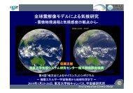 全球雲解像 デ による気候研究 全球雲解像モデルによる気候研究