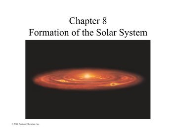 Formation of the Solar System I