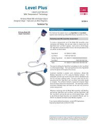 Technical Tip, M-Series Model MG Digital Transmitter - MTS Sensors