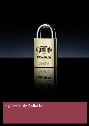 High Security Padlocks - Assa Abloy
