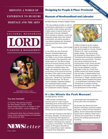 Otoño 2003 (PDF) - Lord Cultural Resources