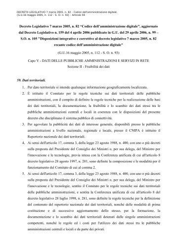 """Decreto Legislativo 7 marzo 2005, n. 82 """"Codice dell ..."""