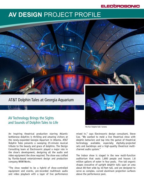 AV DESIGN PROJECT PROFILE - Electrosonic