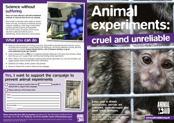 experiments: - Animal Aid