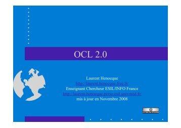 OCL 2.0 Henocque Esil Info 2008 - Laurent Henocque