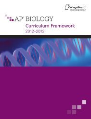 AP Biology Curriculum Framework - College Board
