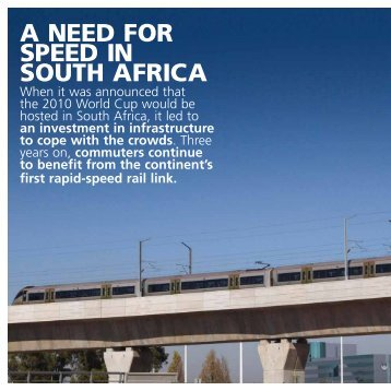 A NEED FOR SPEED IN SOUTH AFRICA - Angles - Atkins