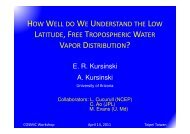 how well do we understand the low latitude, free tropospheric water ...
