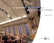 Meyer Sound for Worship - Meyer Sound Laboratories Inc.
