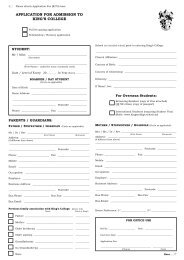 Application Form - King's College