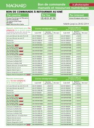 Magnard - Bon de commande numérique 2013-2014