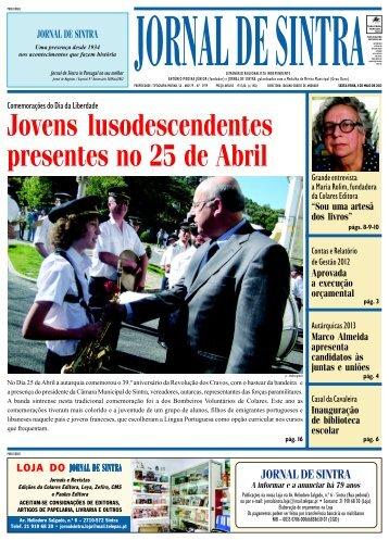 Jovens lusodescendentes presentes no 25 de Abril - Jornal de Sintra