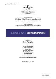Qualcosa di Straordinario - Pressbook ITA