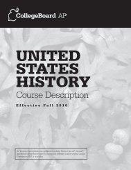 AP US History Course Description - AP Central - College Board