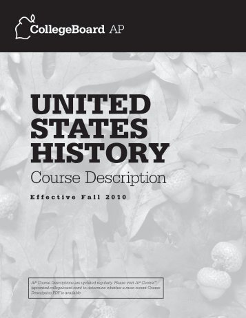 ap central college board us history essays
