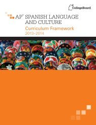AP® SPANISH LANGUAGE AND CULTURE - College Board