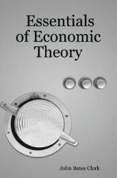 Essentials of Economic Theory - The Ludwig von Mises Institute