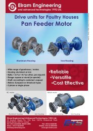 Download Product Catalog in PDF - Elram Engineering