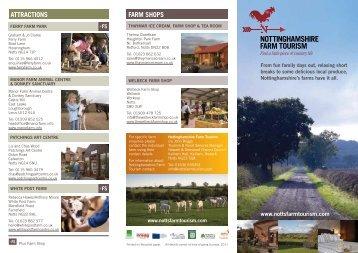 Nottinghamshire Farm Tourism leaflet - Newark and Sherwood ...