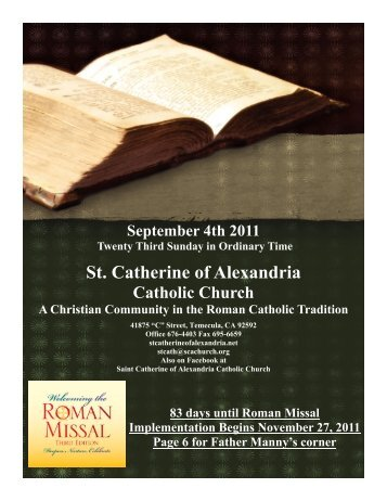 bautizos - St. Catherine of Alexandria Temecula