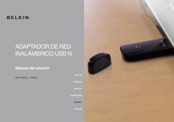 ADAPTADOR DE RED INALÁMBRICO USB N