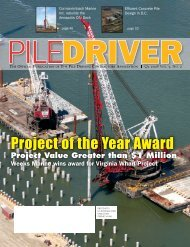 Project of the Year Award - Pile Driving Contractors Association