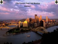 District Forum Presentation - City of Pittsburgh