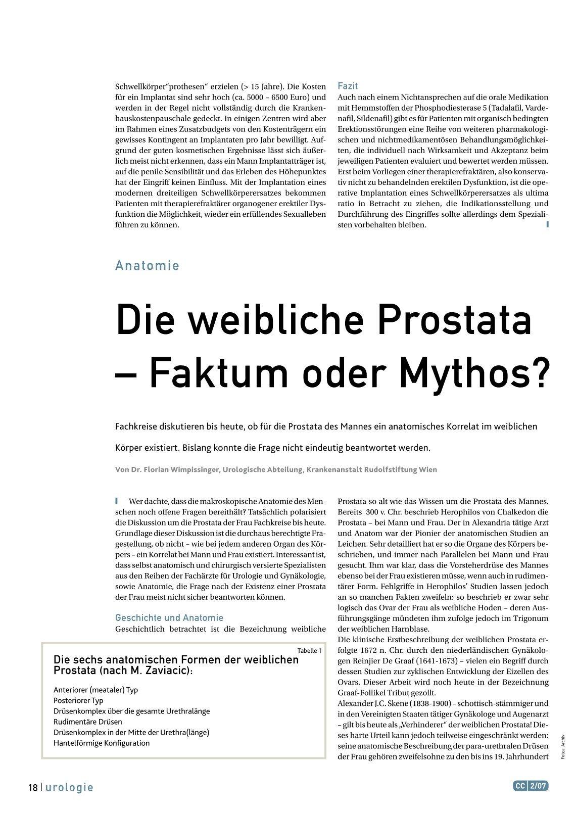 Niedlich Weibliche Prostata Anatomie Bilder - Physiologie Von ...