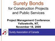 Surety Bonds - Department of Public Works and Services