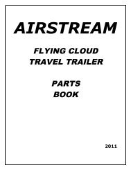 FLYING CLOUD TRAVEL TRAILER PARTS BOOK - Airstream