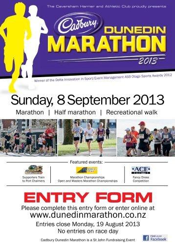 HERE - Cadbury Dunedin Marathon