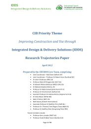 IDDS CIB Priority Theme Improving Construction and Use ... - NIST