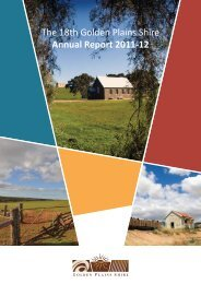 The 18th Golden Plains Shire Annual Report 2011-12