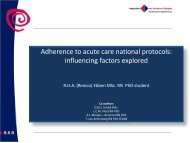 Adherence to national acute care protocols in the Netherlands