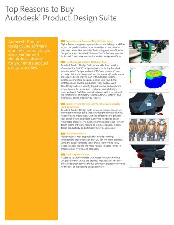 Top Reasons to Buy Autodesk® Product Design Suite