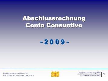 2008 2009 - Bezirksgemeinschaft Eisacktal