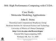 High Performance Computing with CUDA Case Study