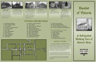 Walking Tour Brochure - Vittoria, Ontario, canada