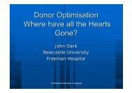 Collaborative working - Organ Donation