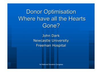 Collaborative working - Organ Donation