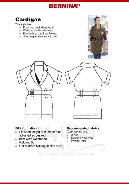 Modification Cardigan - My Label 3D Fashion Pattern Software