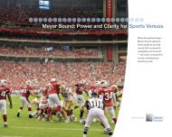 Power and Clarity for Sports Venues - Meyer Sound Laboratories Inc.