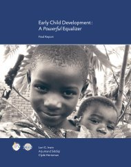 Early Child Development - Human Early Learning Partnership
