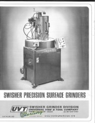 Swisher Precision Surface Grinders Brochure - Sterling Machinery