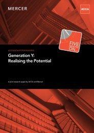 Generation Y - Government Finance Profession