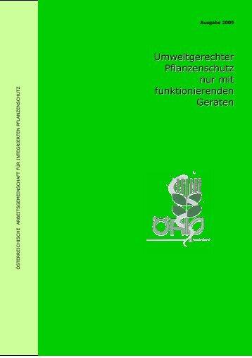 Umweltgerechter Pflanzenschutz nur mit - Francisco Josephinum