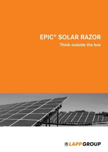 EPIC® SOLAR RAZOR - Lapp Kabel