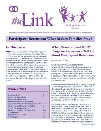 What Makes Families Stay? - Healthy Families New York